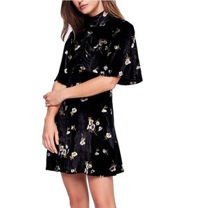 Free People Be My Baby Mini Dress black floral 4